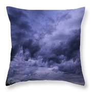 Brewing Storm Throw Pillow