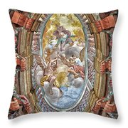 Brezice Castle Museum Throw Pillow
