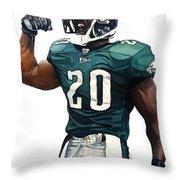 Brian Dawkins - Philadelphia Eagles Throw Pillow