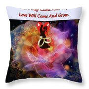 Brian Exton Night Flowers  Bigstock 164301632  231488 Throw Pillow