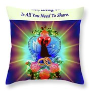 Brian Exton Peace Light And Love  Bigstock 164301632  12779828 Throw Pillow