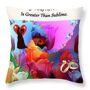 Brian Exton Pink Tulips  Bigstock 164301632  231488 Throw Pillow