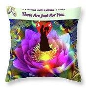 Brian Exton Sacred Flower Of Love  Bigstock 164301632  2991949  12779828 Throw Pillow