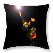 Brian Johnson Acdc Throw Pillow