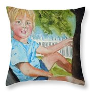 Brianna In Tree Throw Pillow