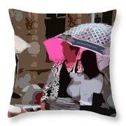 Bribane In The Rain #2 Throw Pillow