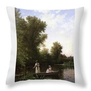 Bricher Boating In The Afternoon Throw Pillow