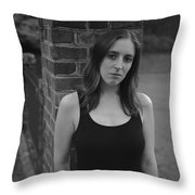 Brick And Field Throw Pillow
