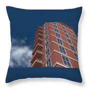 Brick Building  Throw Pillow