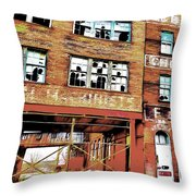 Brick By Brick Throw Pillow