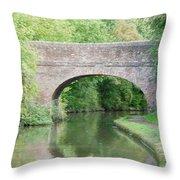 Brick Canal Bridge  Throw Pillow