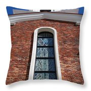 Brick Church Throw Pillow