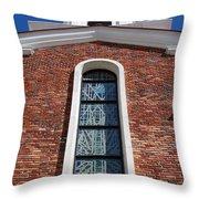 Brick Church Throw Pillow