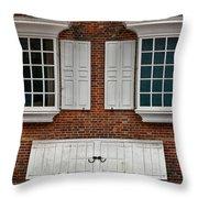 Brick Face Throw Pillow