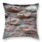 Brick Grungy Texture Throw Pillow