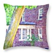 Brick House Three Throw Pillow