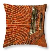 Brick Houses Throw Pillow