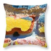Brick In Sun Throw Pillow