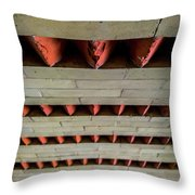 Brick Patterned Abstract Throw Pillow