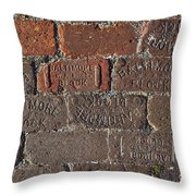 Brick Street Throw Pillow