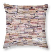 Brick Tiled Wall Throw Pillow