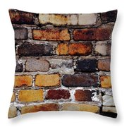 Brick Wall Throw Pillow by Tim Good