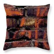 Bricks And Graffiti Throw Pillow by Tim Good