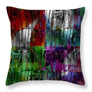 Bricks In The Wall Throw Pillow