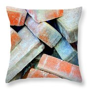 Bricks. Throw Pillow