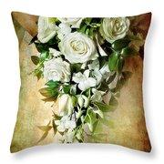Bridal Bouquet Throw Pillow by Meirion Matthias