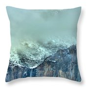 Bridal Vail Fall Below The Clouds Throw Pillow