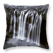 Bridal Veil Falls - Havasu Canyon Arizona C. 1900 Throw Pillow
