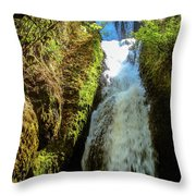 Bridal Veil Falls, Oregon Throw Pillow