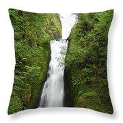 Bridal Veil Falls - Oregon Throw Pillow