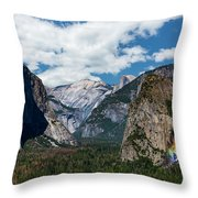 Bridal Veil Falls Rainbow Throw Pillow