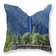 Bridal Veil Yosemite Throw Pillow