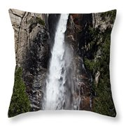 Bridalveil Fall Yosemite Valley Throw Pillow