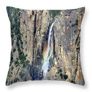 Bridalveil Falls From Above - Yosemite Throw Pillow