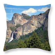 Bridalveil Falls From Tunnel View Throw Pillow