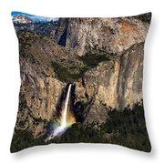 Bridalveil Falls Rainbow #3 Throw Pillow