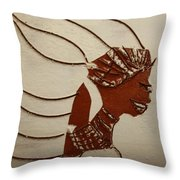 Bride 12 - Tile Throw Pillow