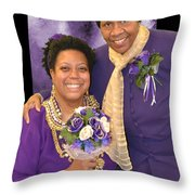 Bride And Aunt  Throw Pillow