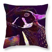 Bride Duck Male Duck Bird  Throw Pillow
