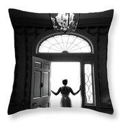 Bride Silhouette  Throw Pillow