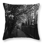 Bride's Aisle II Throw Pillow