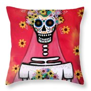 Bridezilla Dia De Los Muertos Throw Pillow