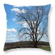 Bridge And A Tree Throw Pillow