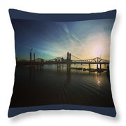 Bridge And Colors Throw Pillow