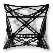 Bridge And Sky Throw Pillow