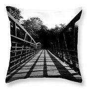 Bridge And Tunnel - B/w Throw Pillow